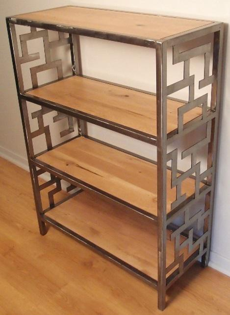 biblioth que bois m tal divers. Black Bedroom Furniture Sets. Home Design Ideas